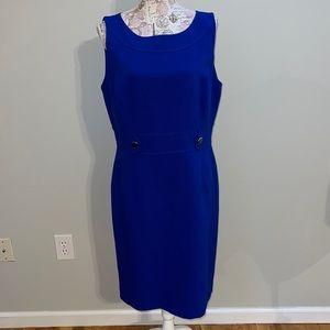 Tahari Blue Shift Dress 14